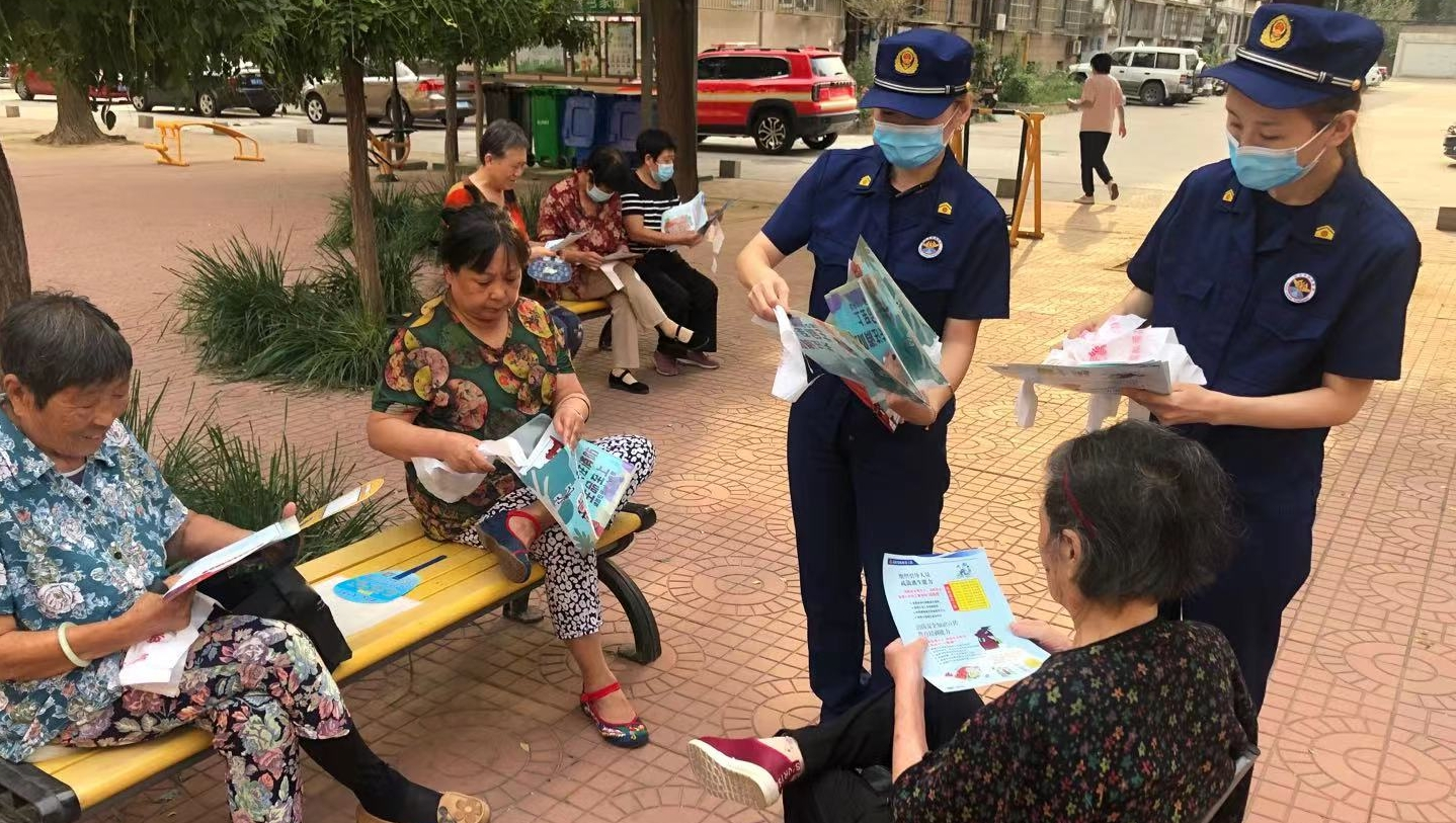 高新区消防救援大队消防宣传进社区